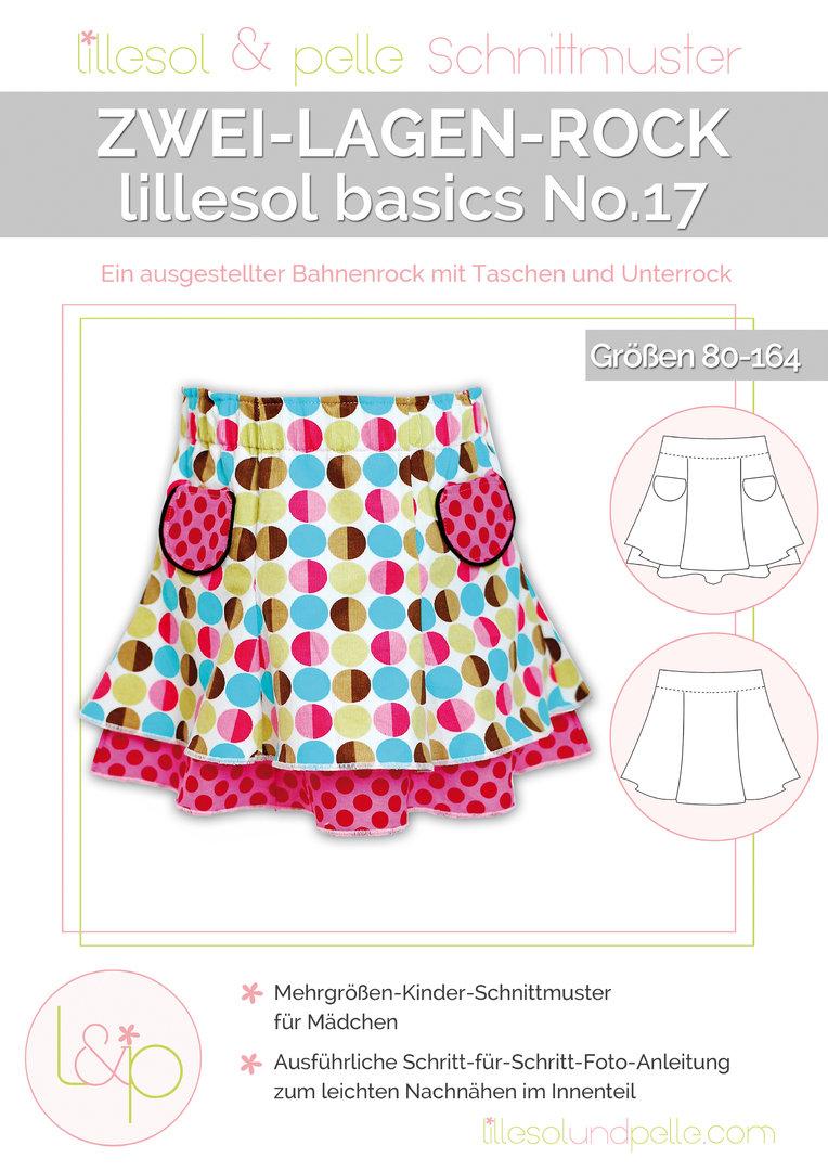 Papierschnittmuster lillesol basics No.17 Zwei-Lagen-Rock – Tigerlilly
