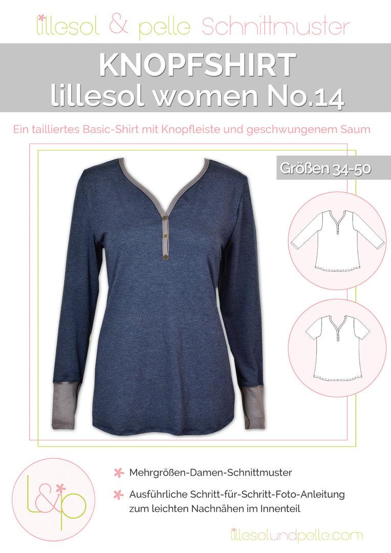 Papierschnittmuster lillesol women No.14 Knopfshirt – Tigerlilly