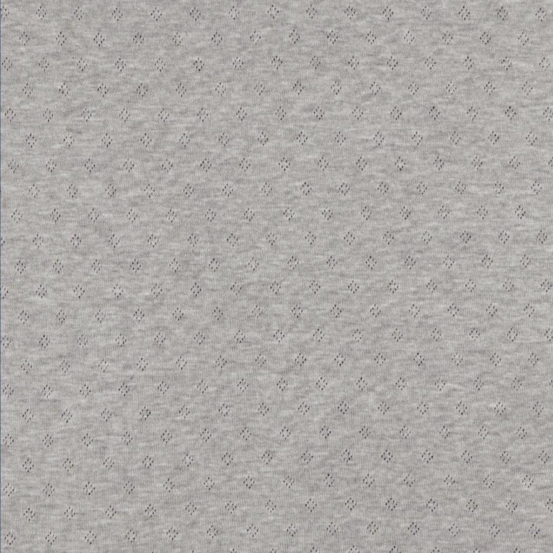 Pointoille Lochjersey grau meliert V 009