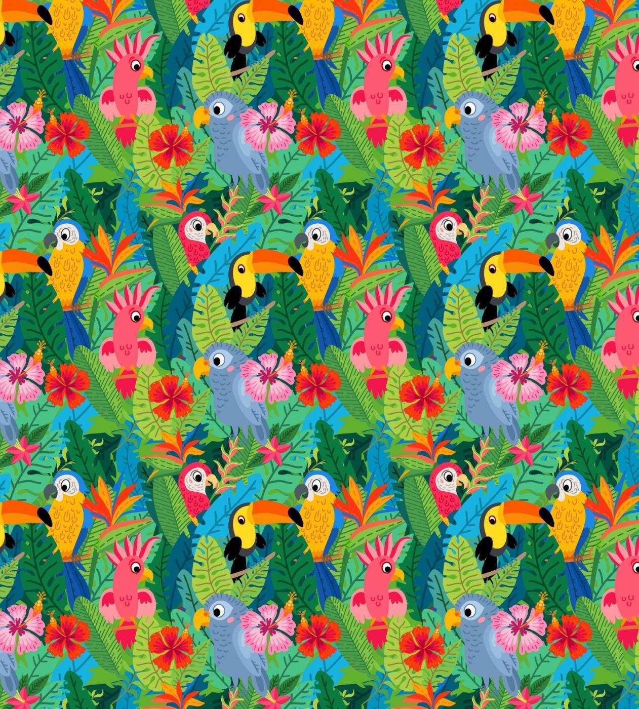 Dschungelvögel auf PUL_Produktbild