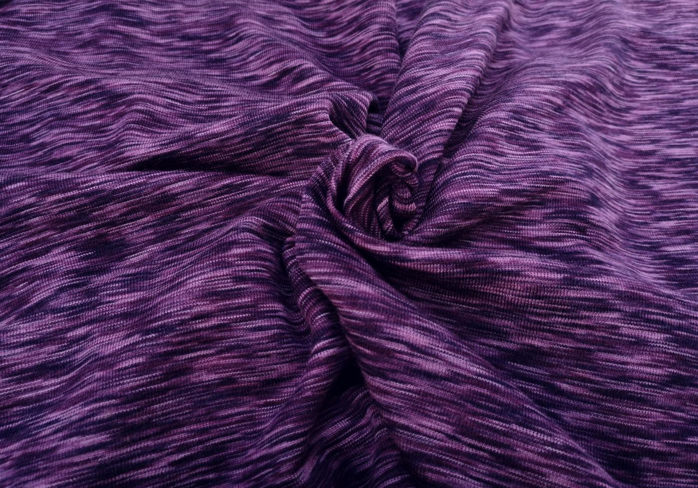 Wolle/Seide Biojersey – purple/lila