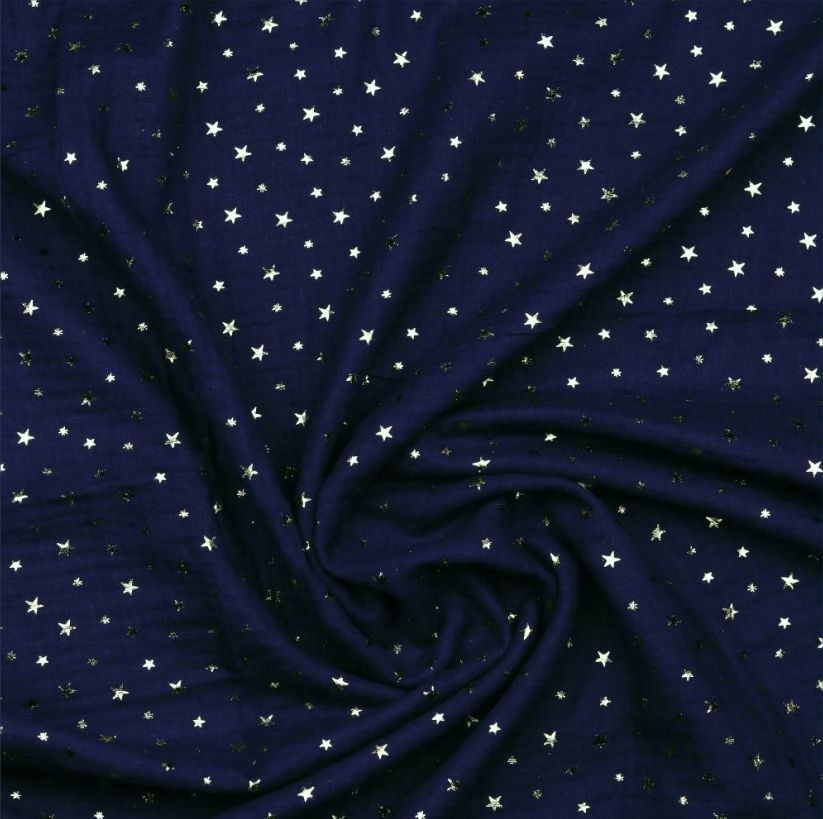 Sterne Musselin navy gold