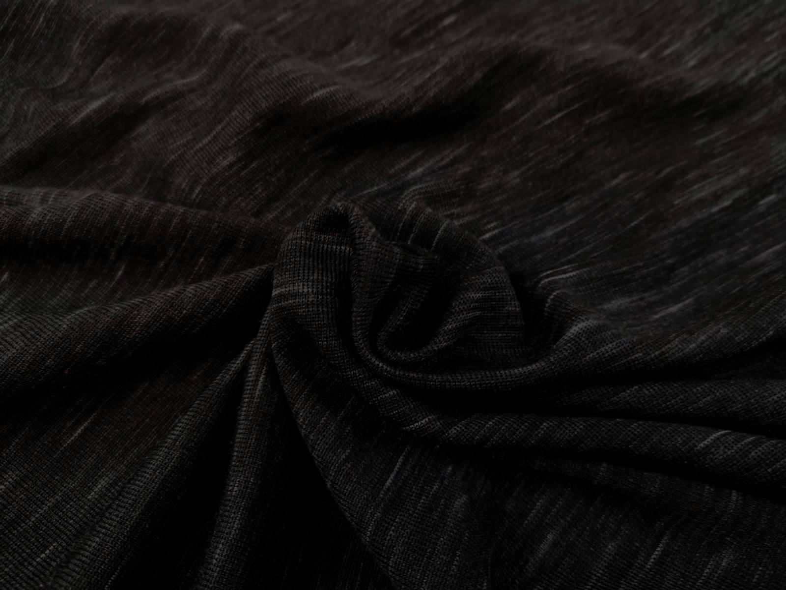schwarz meliert WS Jersey