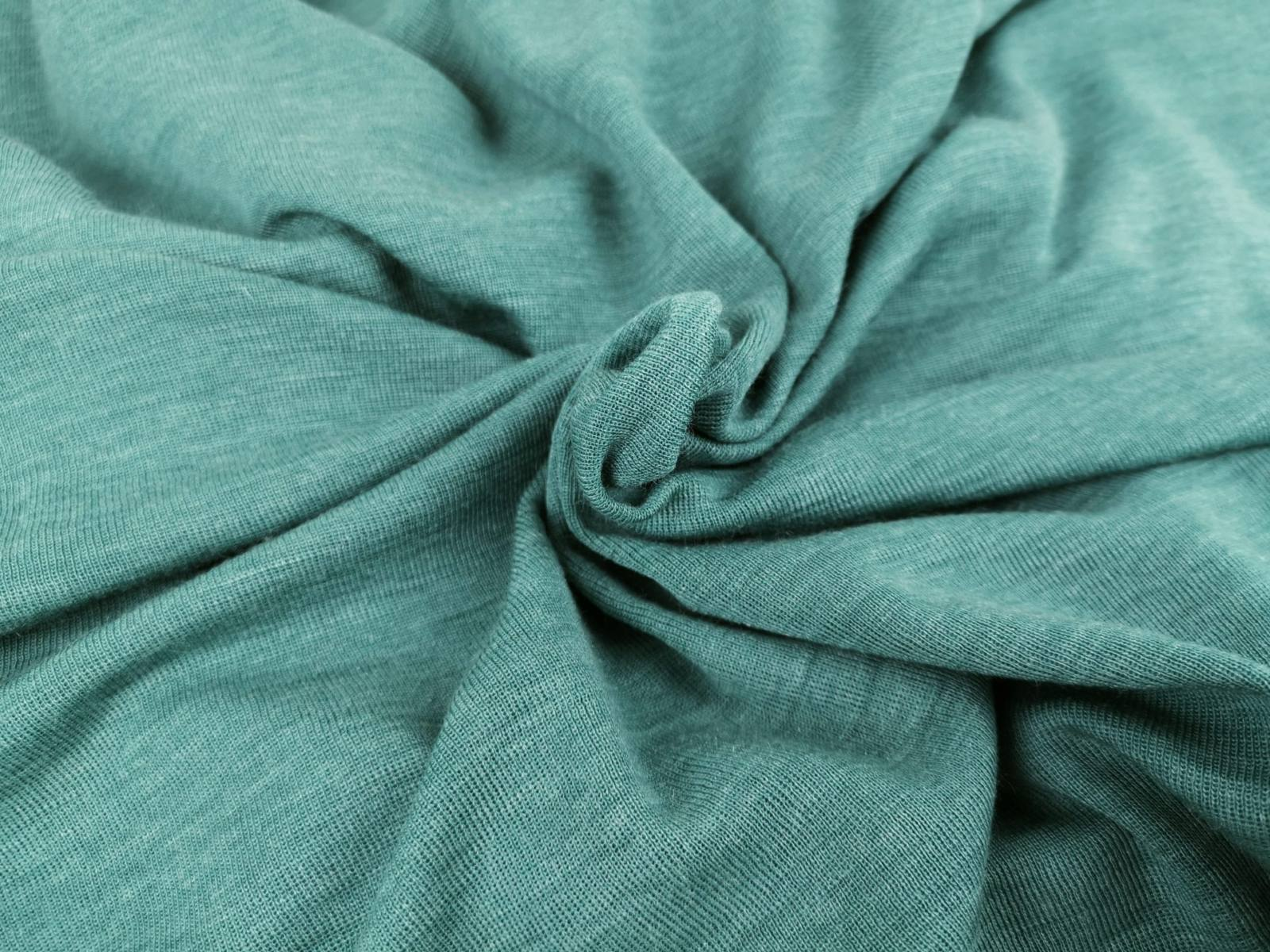 Wolle tencel dusty mint bündchen