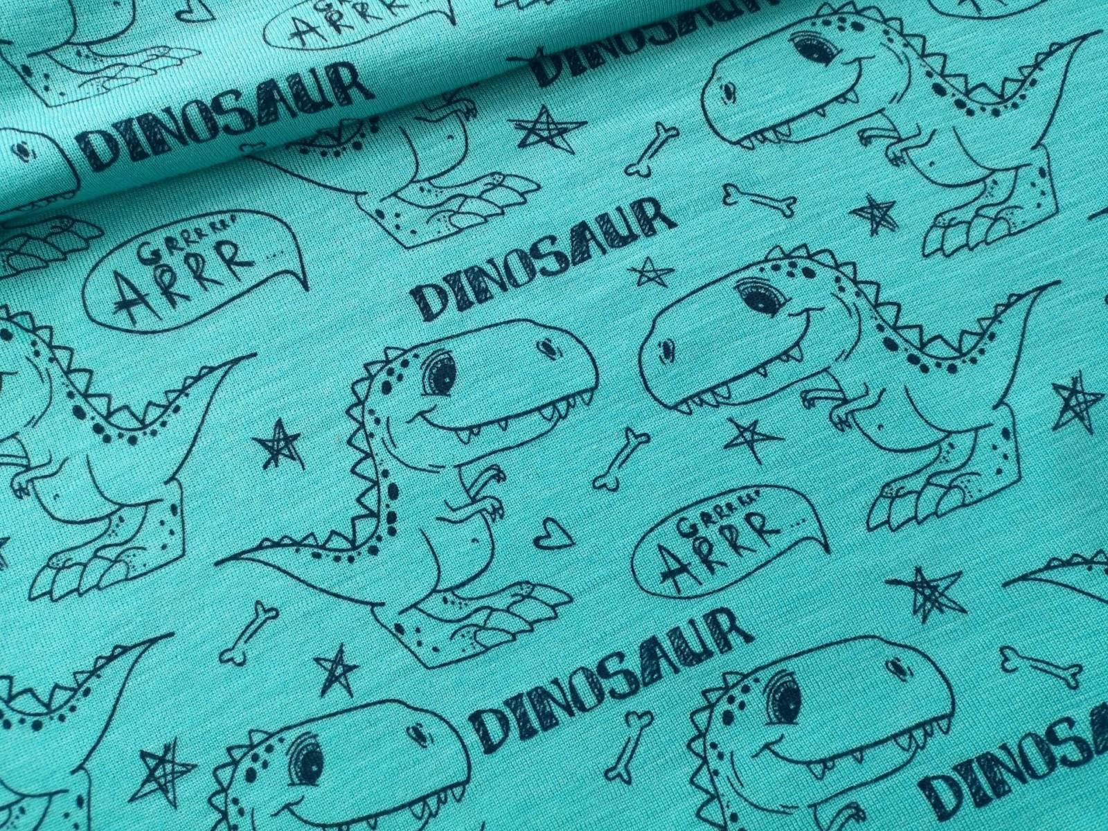 Dinosaurier auf türkis