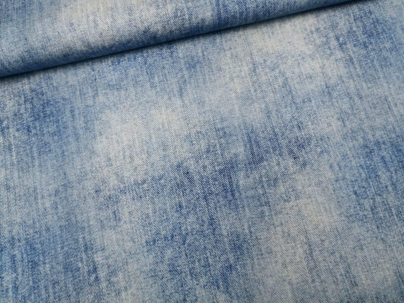 Sommersweat Denimlook jeansblau