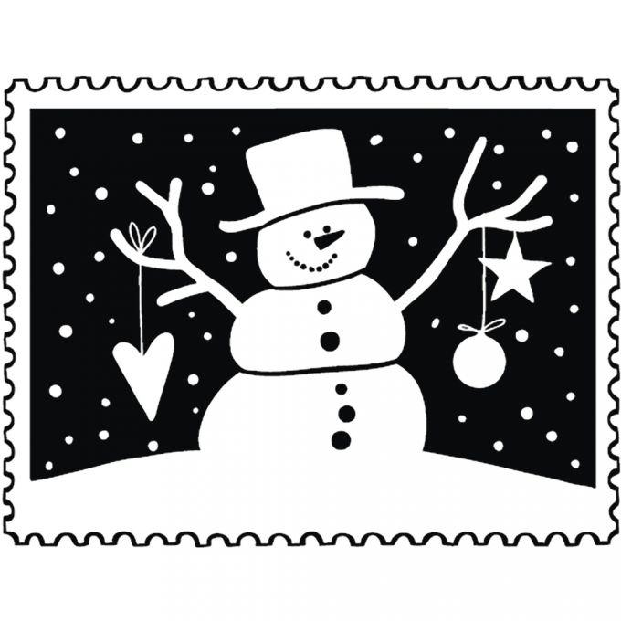 stempel-weihnachtspost-schneemann