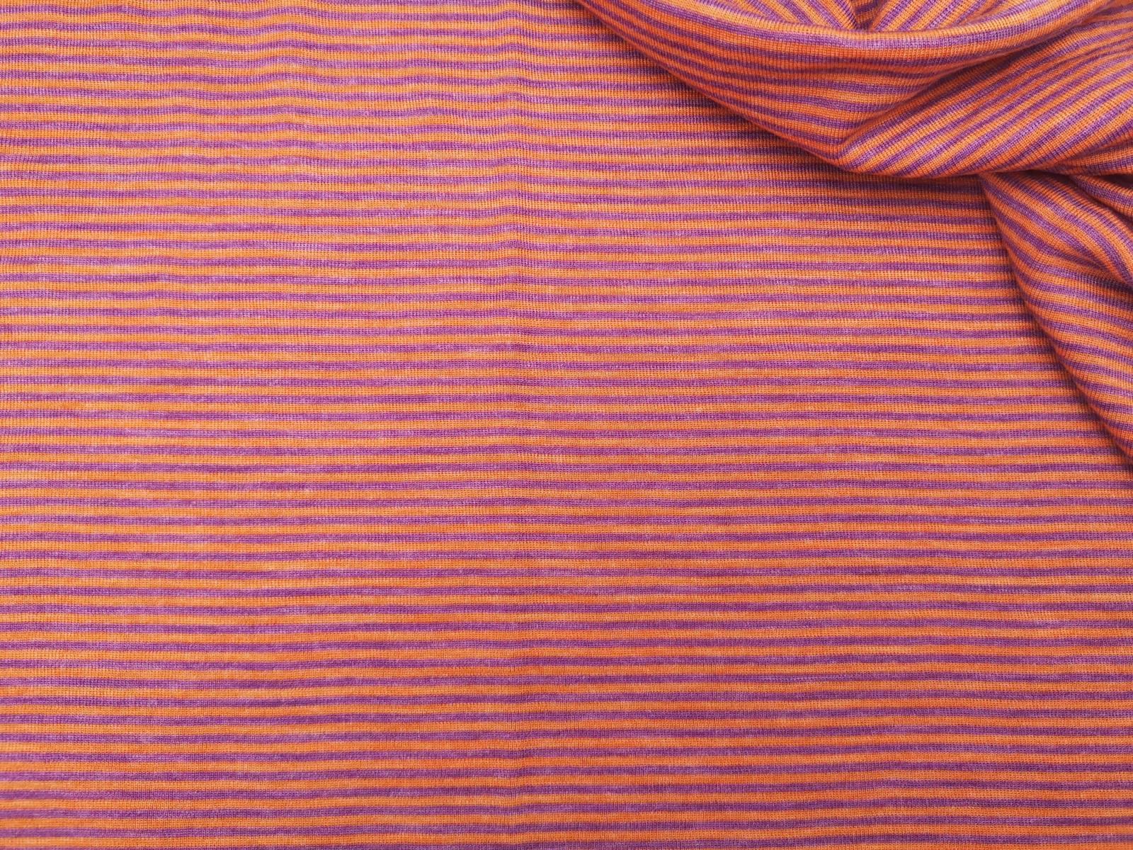 Wolle Seide Miniringel orange lila Oktober 2020