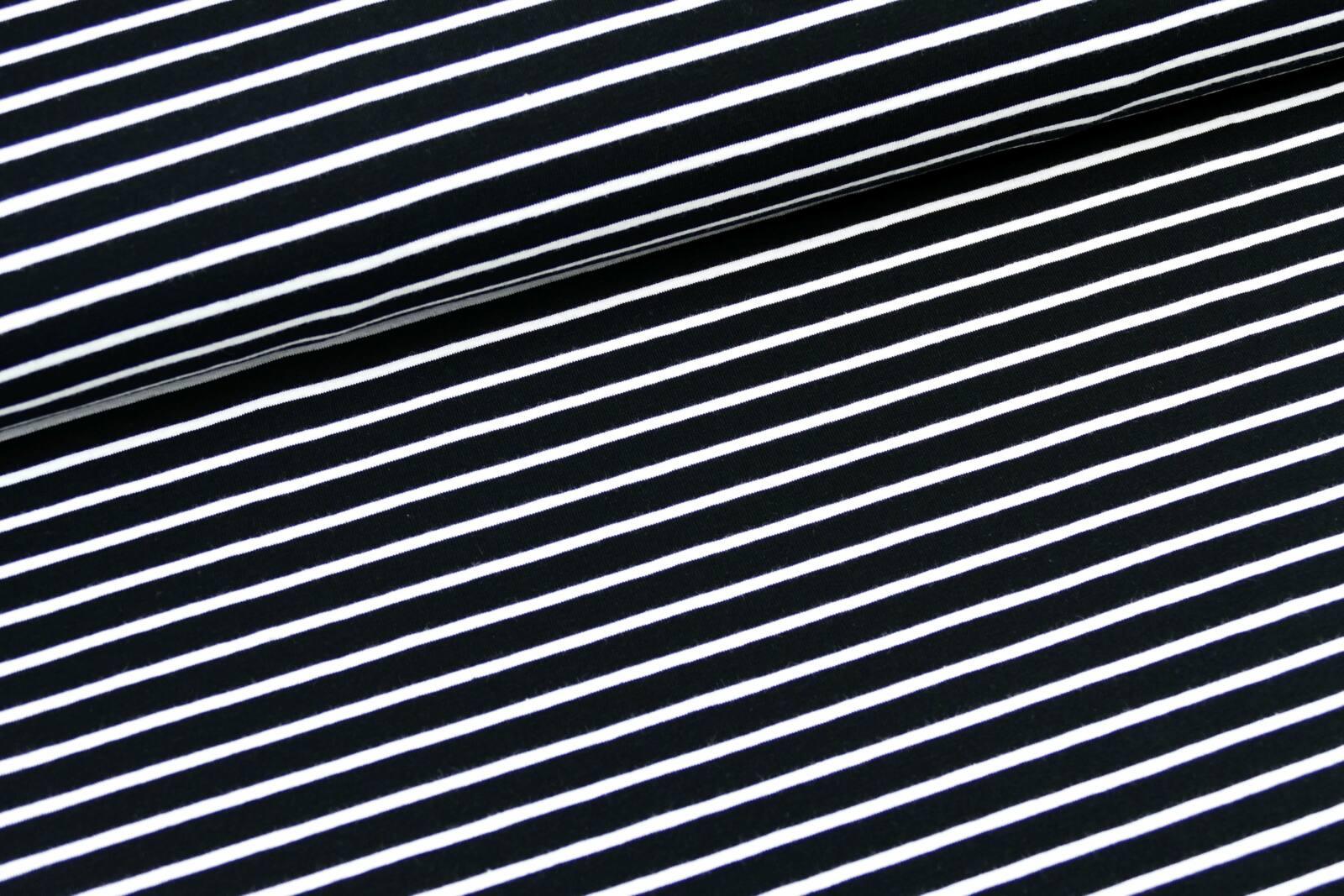 Klassik Streifen schwarz weiß
