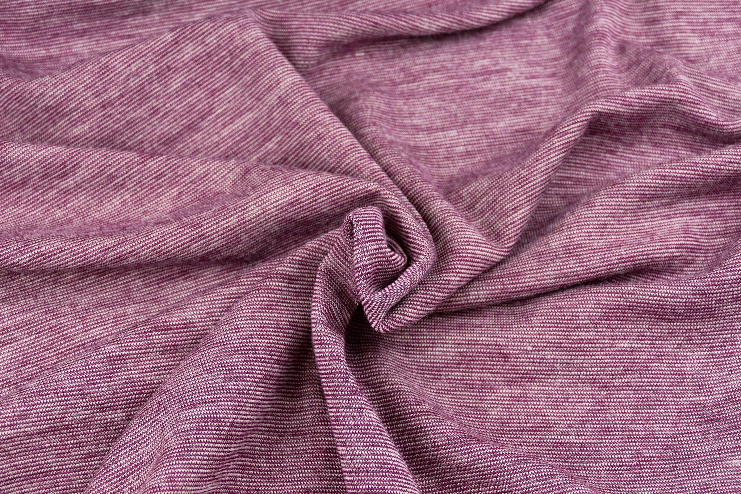 Wolljersey purple naturweiß